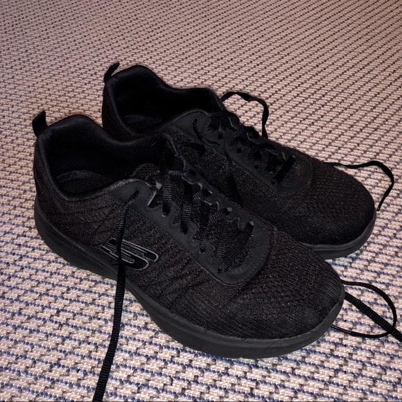Skechers Shoes   Womens Black
